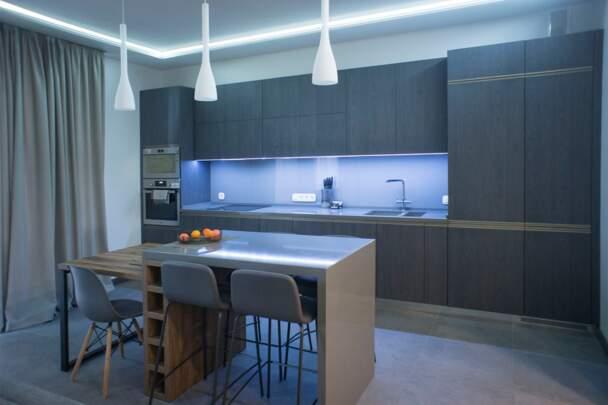 Фото интерьера кухни для холостяка