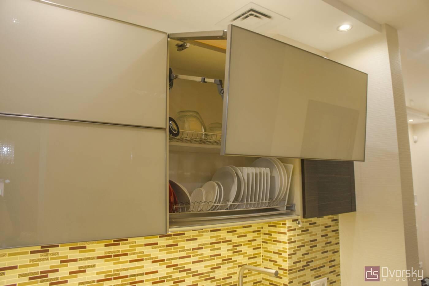 Прямі кухні Кухня дерево і скло - Фото № 5
