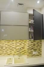 Прямі кухні Кухня дерево і скло - Фото № 6