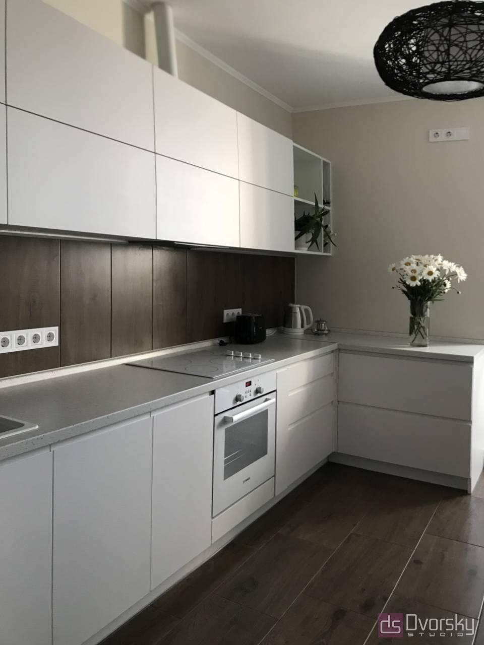 П - образні кухні Світла кухня - Фото № 3