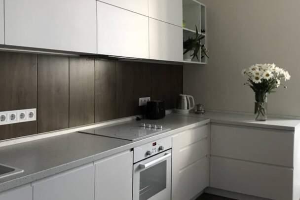 Фото кухни в шоколадно-белых цветах