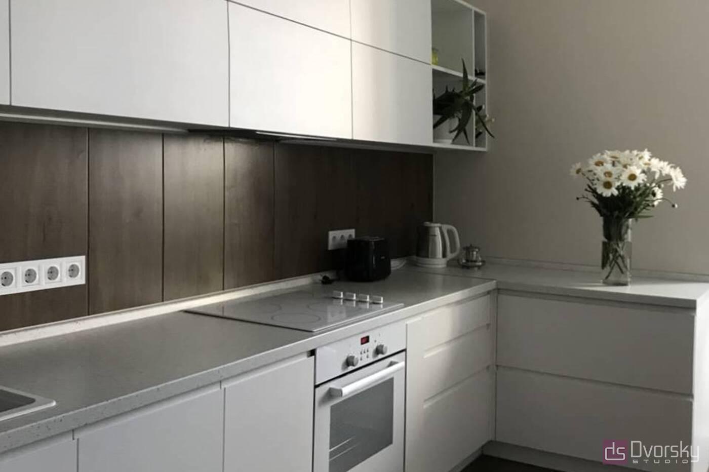 П - образні кухні Світла кухня - Фото № 1