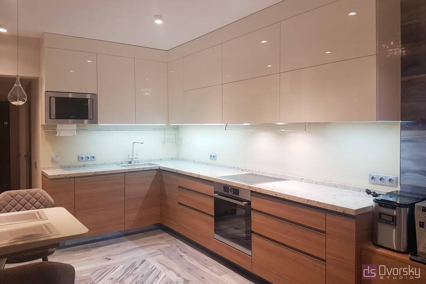 Угловые кухни Комбинированная кухня - Фото № 2