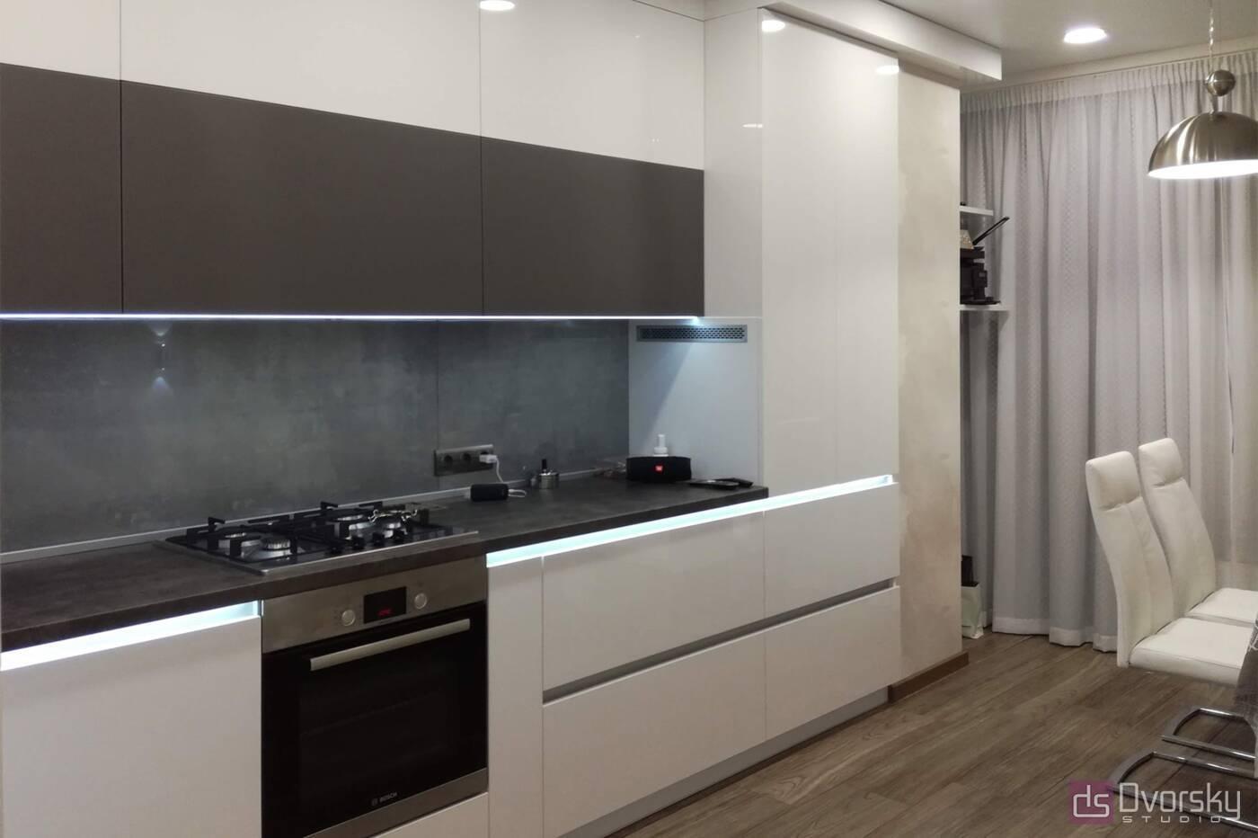 Угловые кухни Кухня с подсветкой - Фото № 1