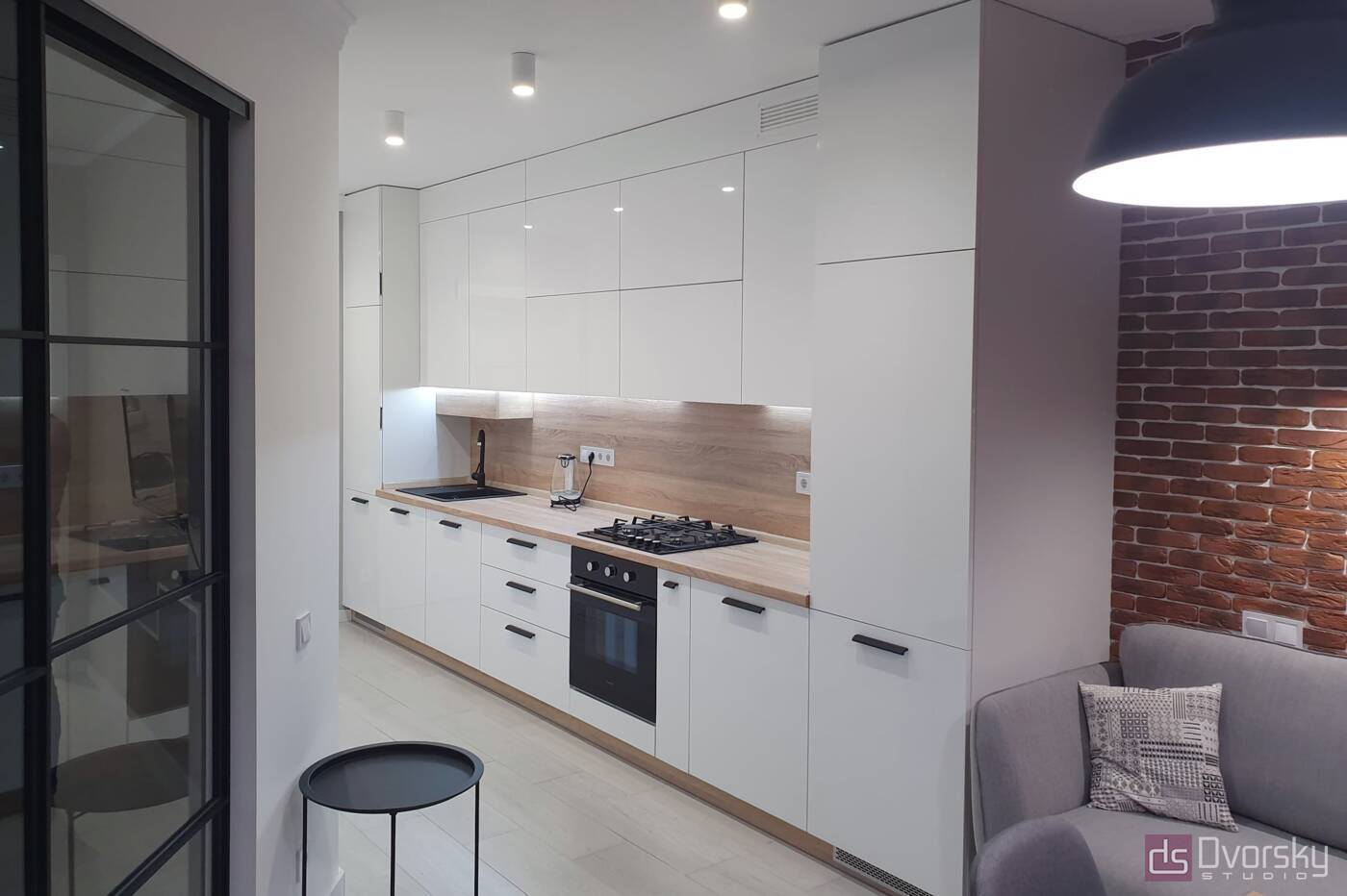 Прямые кухни Кухня на Подоле - Фото № 1