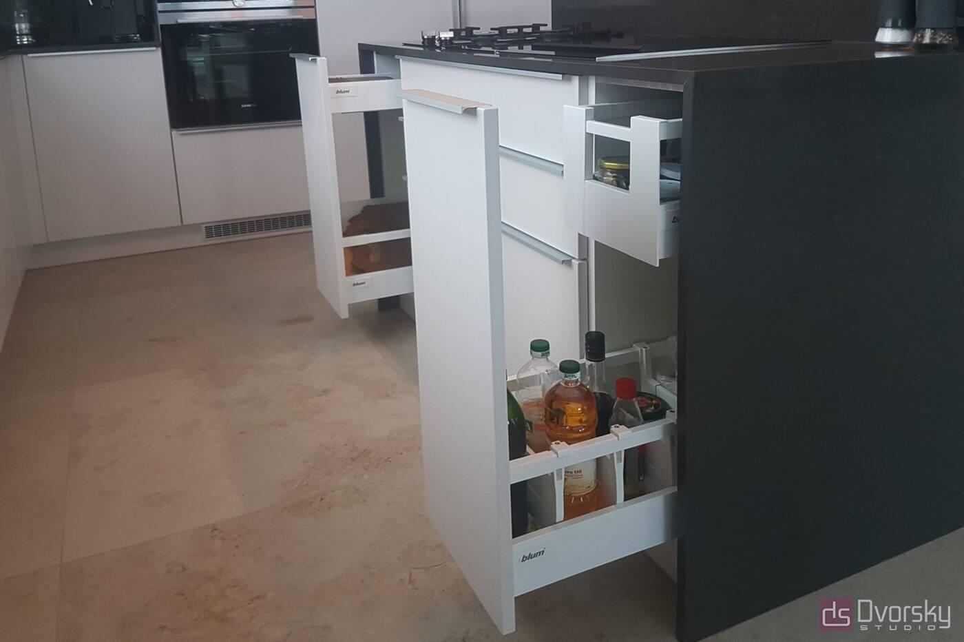 Острівні кухні Кухня з 2-ма зонами острова - Фото № 5
