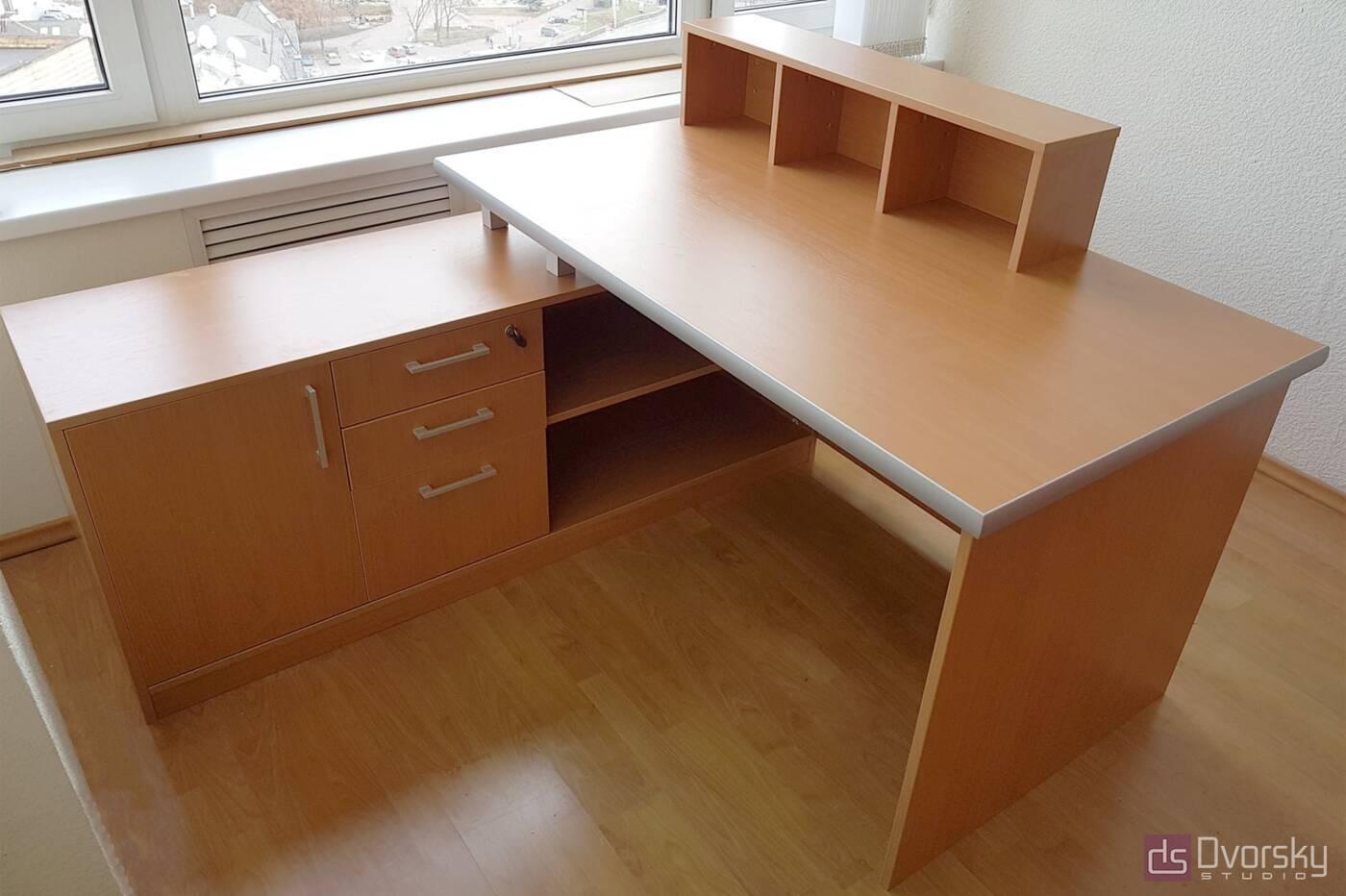 Офисная мебель Офисный стол цвета бук - Фото № 1