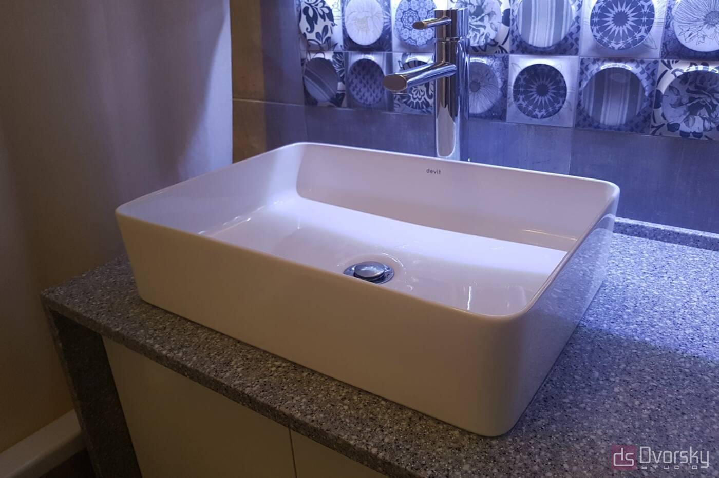 Мебель для ванной Ванная комната с подсветкой - Фото № 2