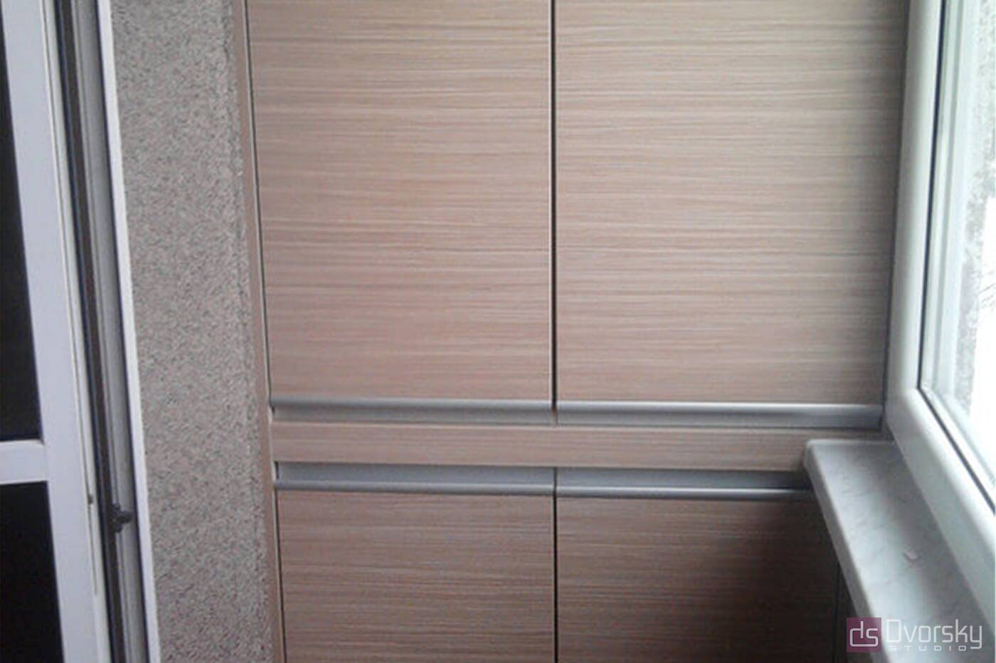 Мебель на балкон Балкон с гладким шкафом - Фото № 1