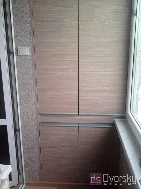 Мебель на балкон Балкон с гладким шкафом - Фото № 2