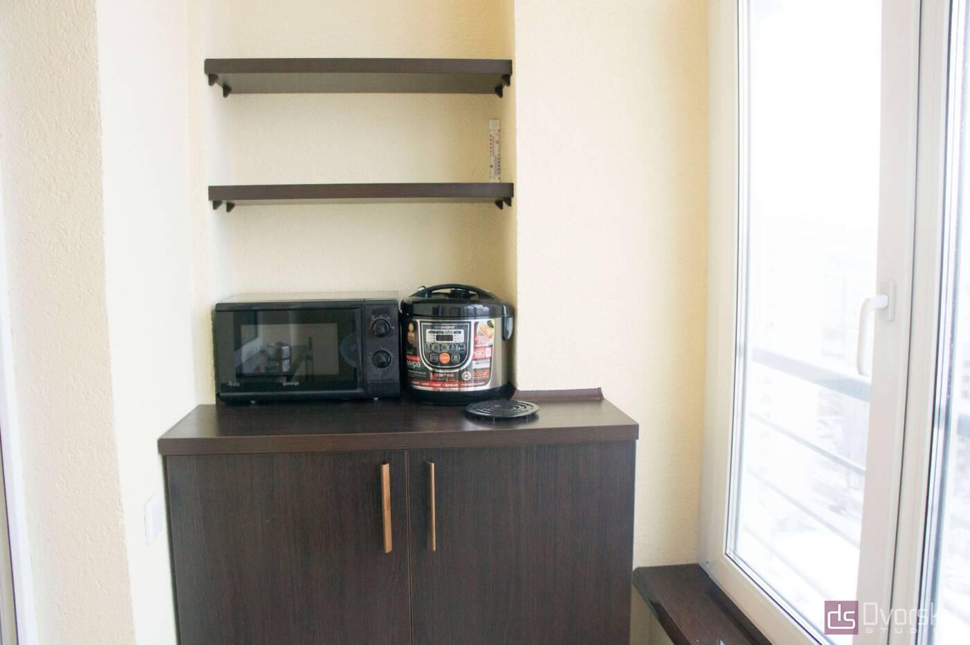 Меблі на балкон Тумба з полками для балкона - Фото № 1