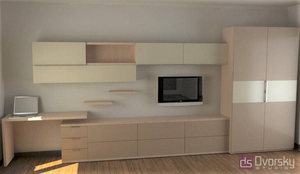 Гостиная Мебельная стенка для гостиной - Фото № 8