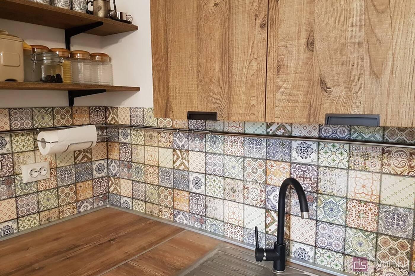 Кутові кухні Кухня в стилі Лофт - Фото № 6
