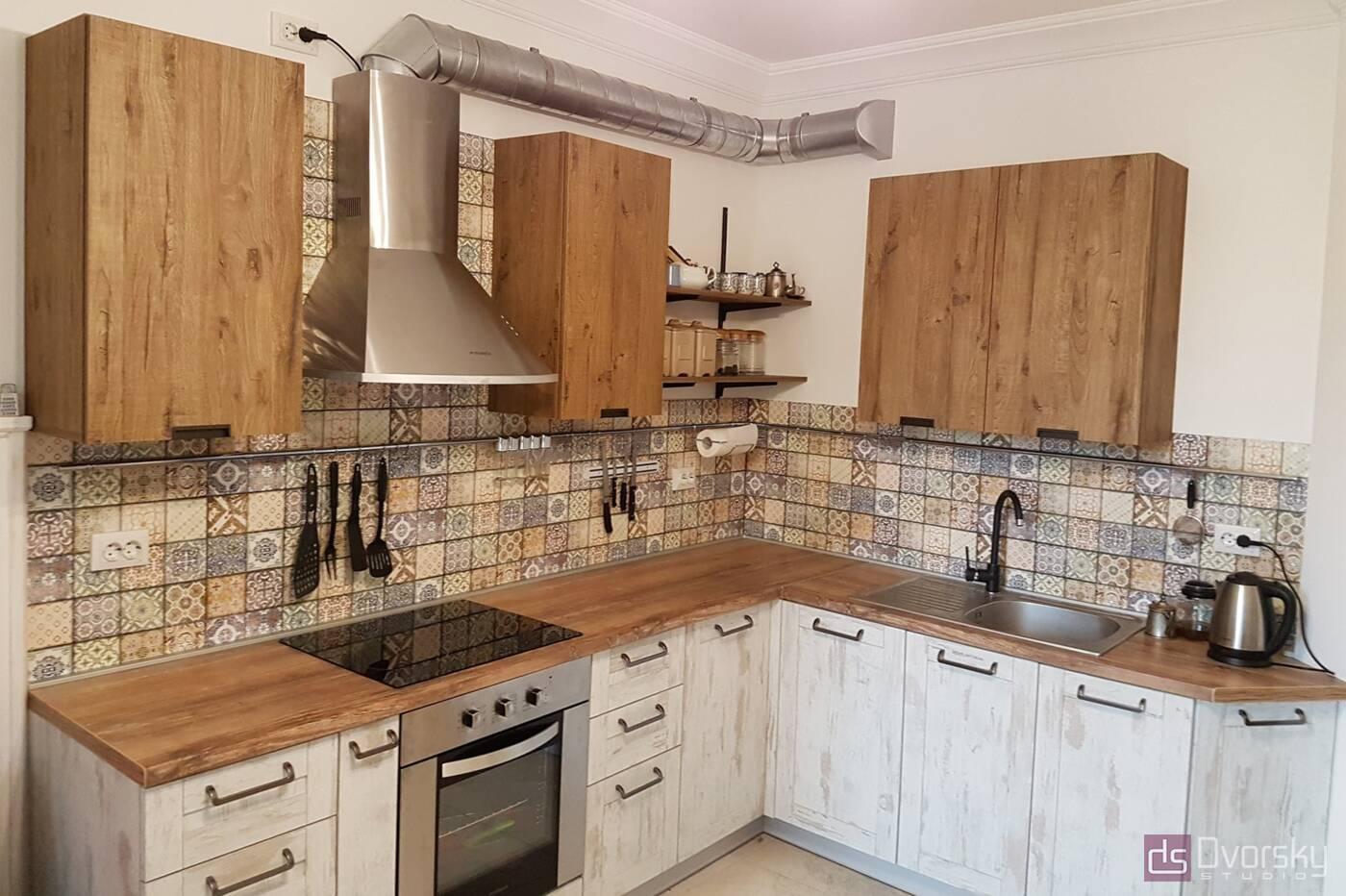 Кутові кухні Кухня в стилі Лофт - Фото № 1