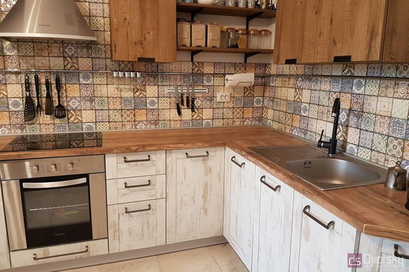 Кутові кухні Кухня в стилі Лофт - Фото № 2