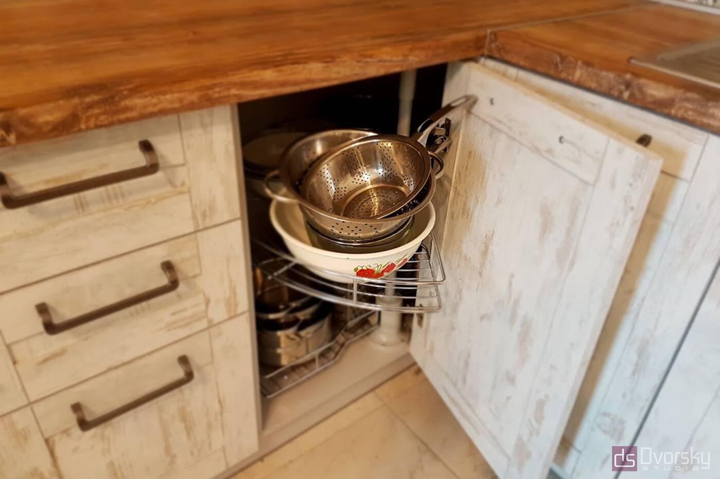 Кутові кухні Кухня в стилі Лофт - Фото № 4