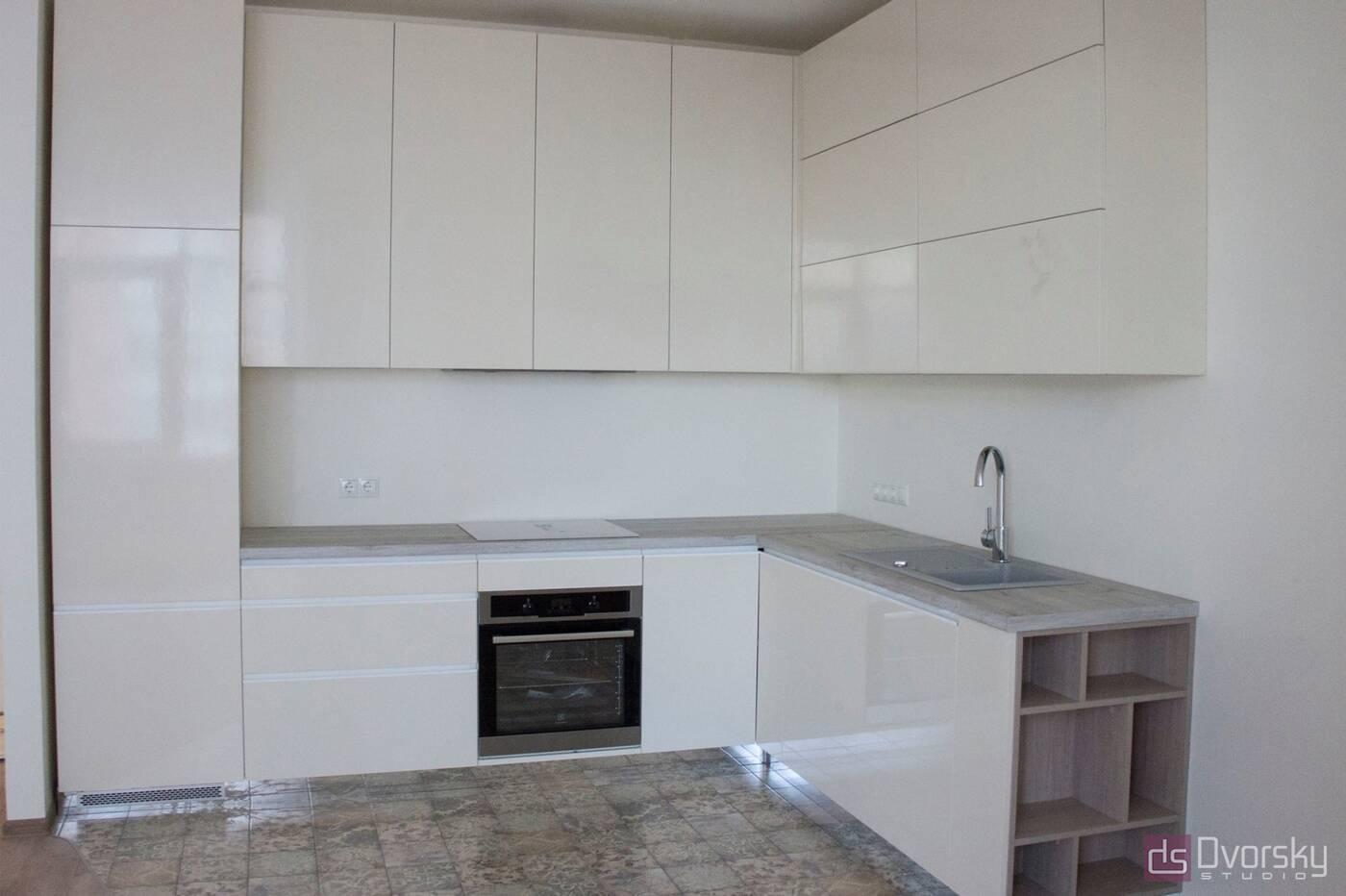 Угловые кухни Кухня в стиле Минимализм - Фото № 1