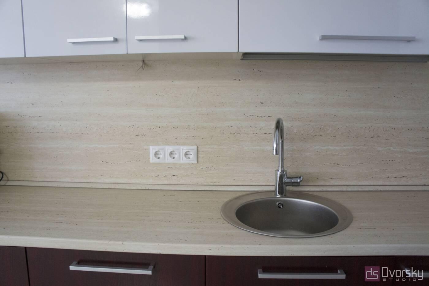 Угловые кухни Кухня вишневого цвета - Фото № 4