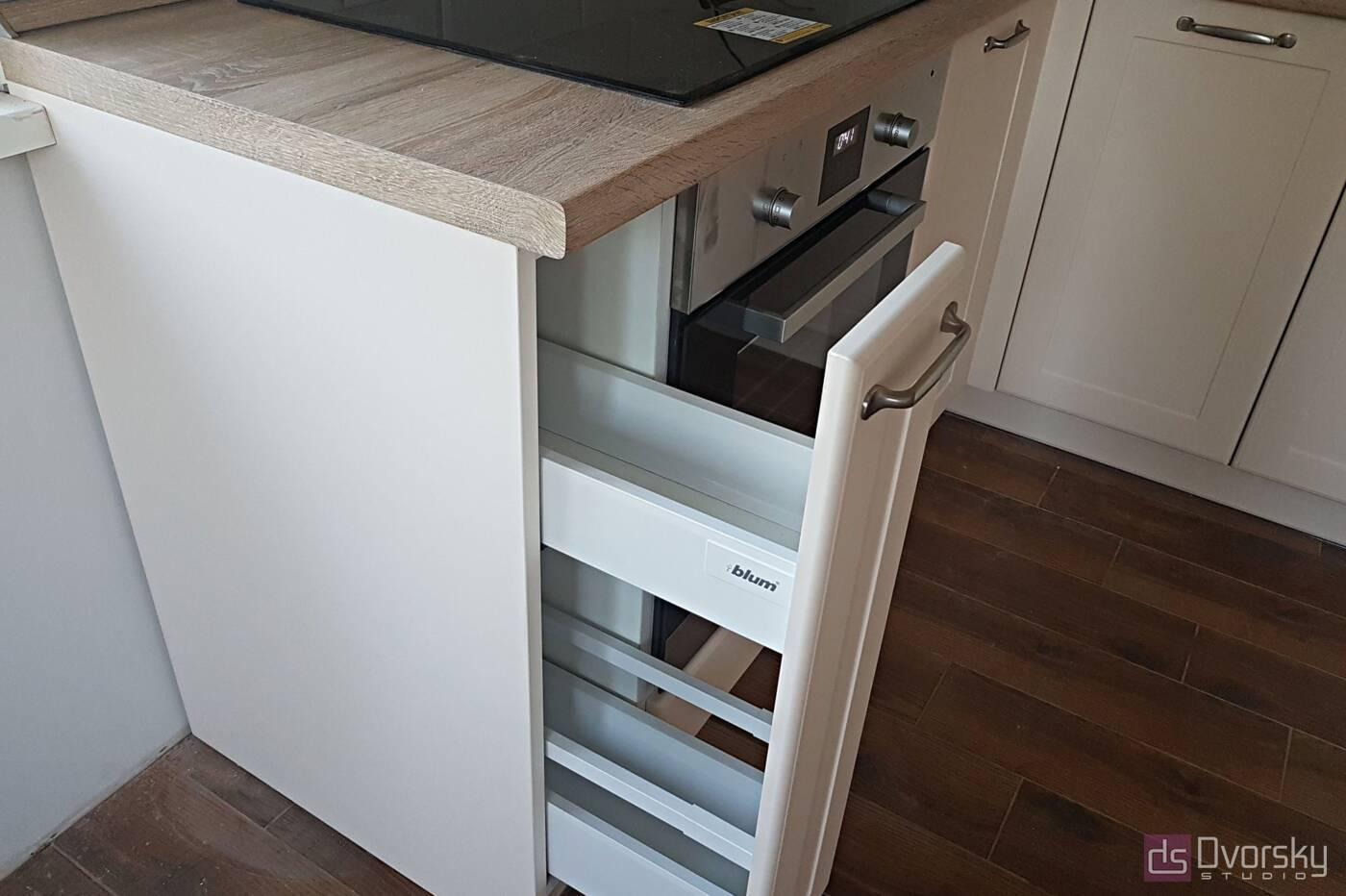 Угловые кухни Светло-бежевая кухня - Фото № 3