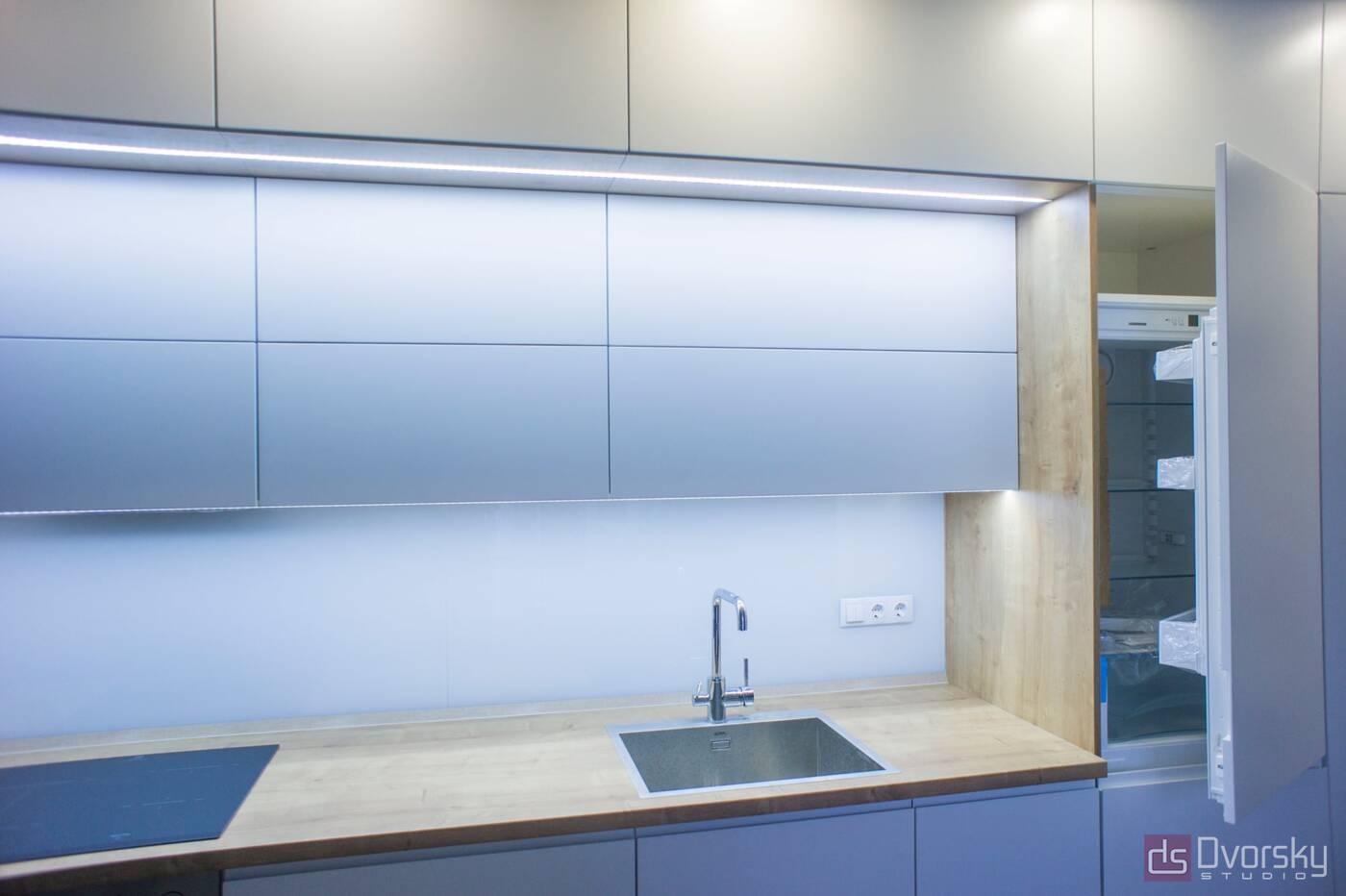 Прямые кухни Кухня 3-х уровневая - Фото № 5