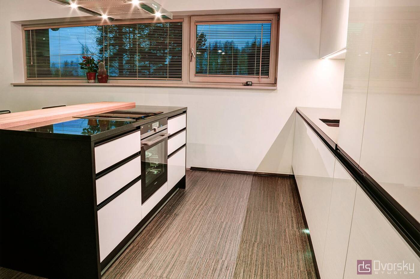 Островные кухни Кухня с островной барной стойкой - Фото № 4
