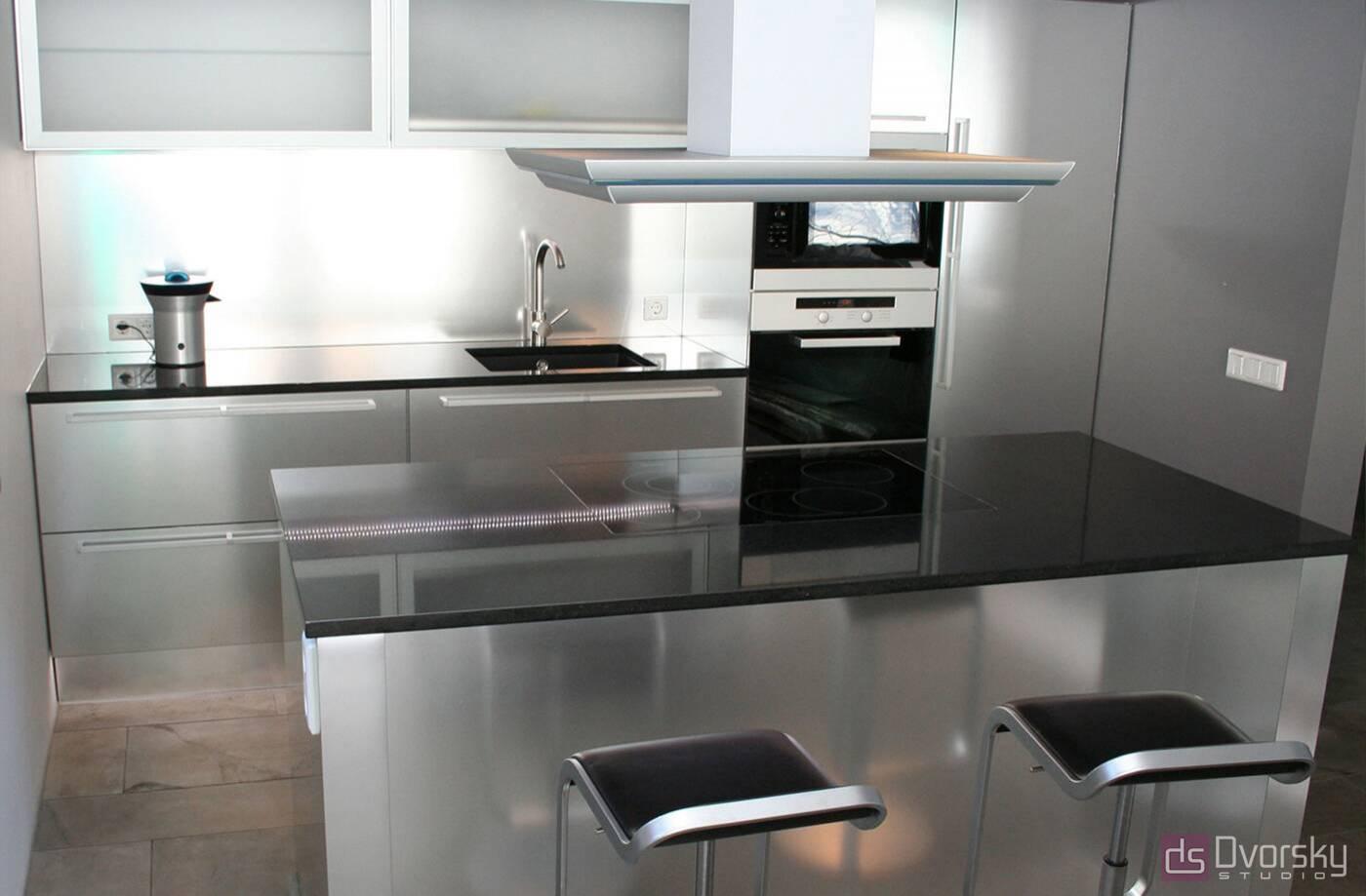 Островные кухни Алюминиевая кухня - Фото № 1