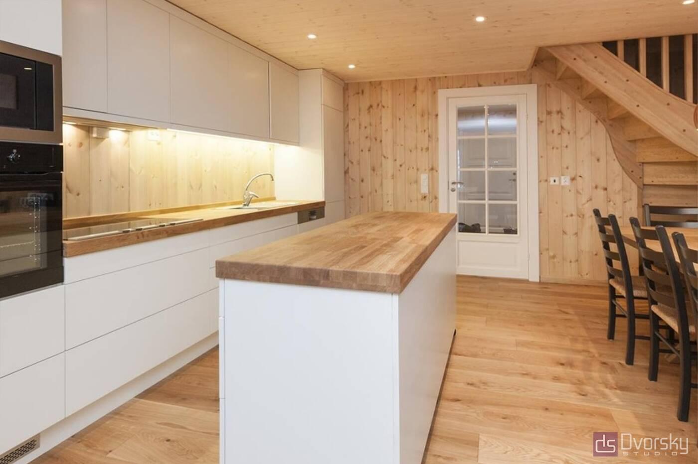 Острівні кухні Кухня для дачного будиночка - Фото № 2