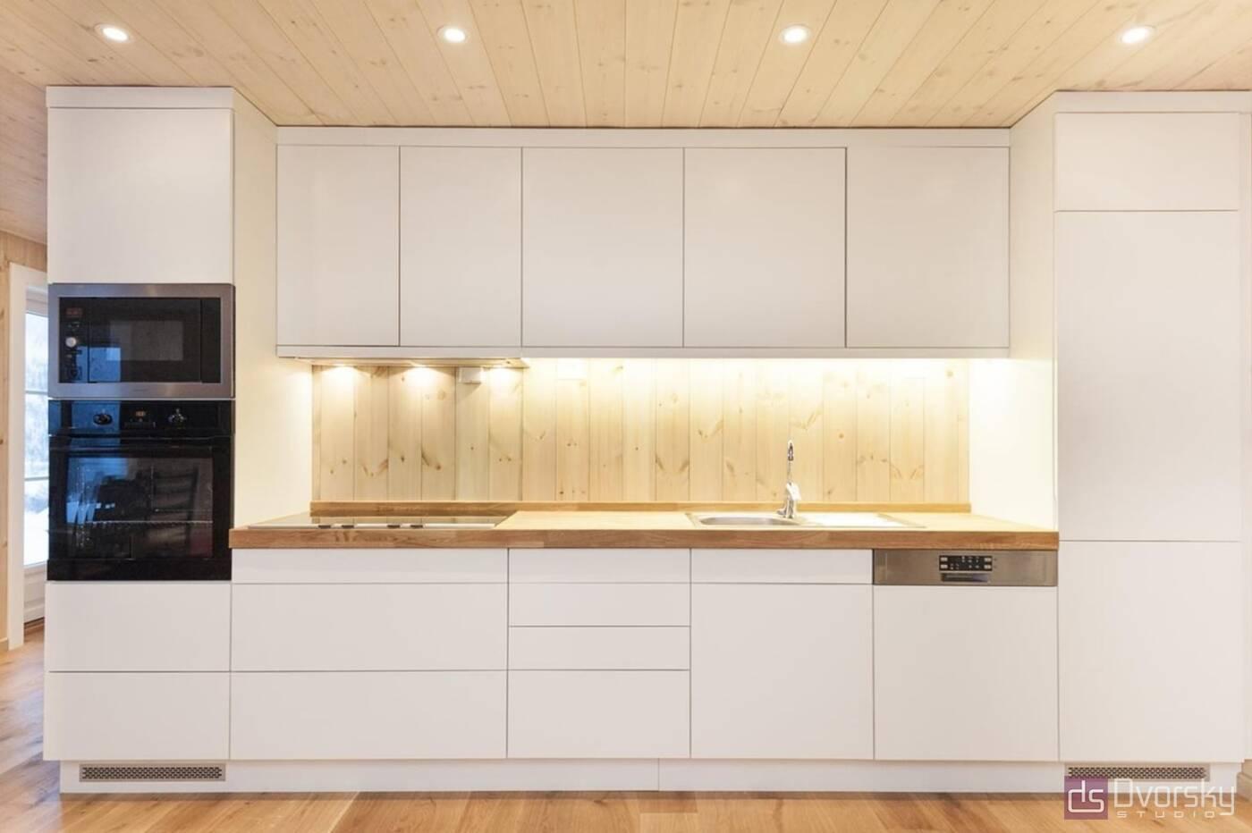 Острівні кухні Кухня для дачного будиночка - Фото № 3