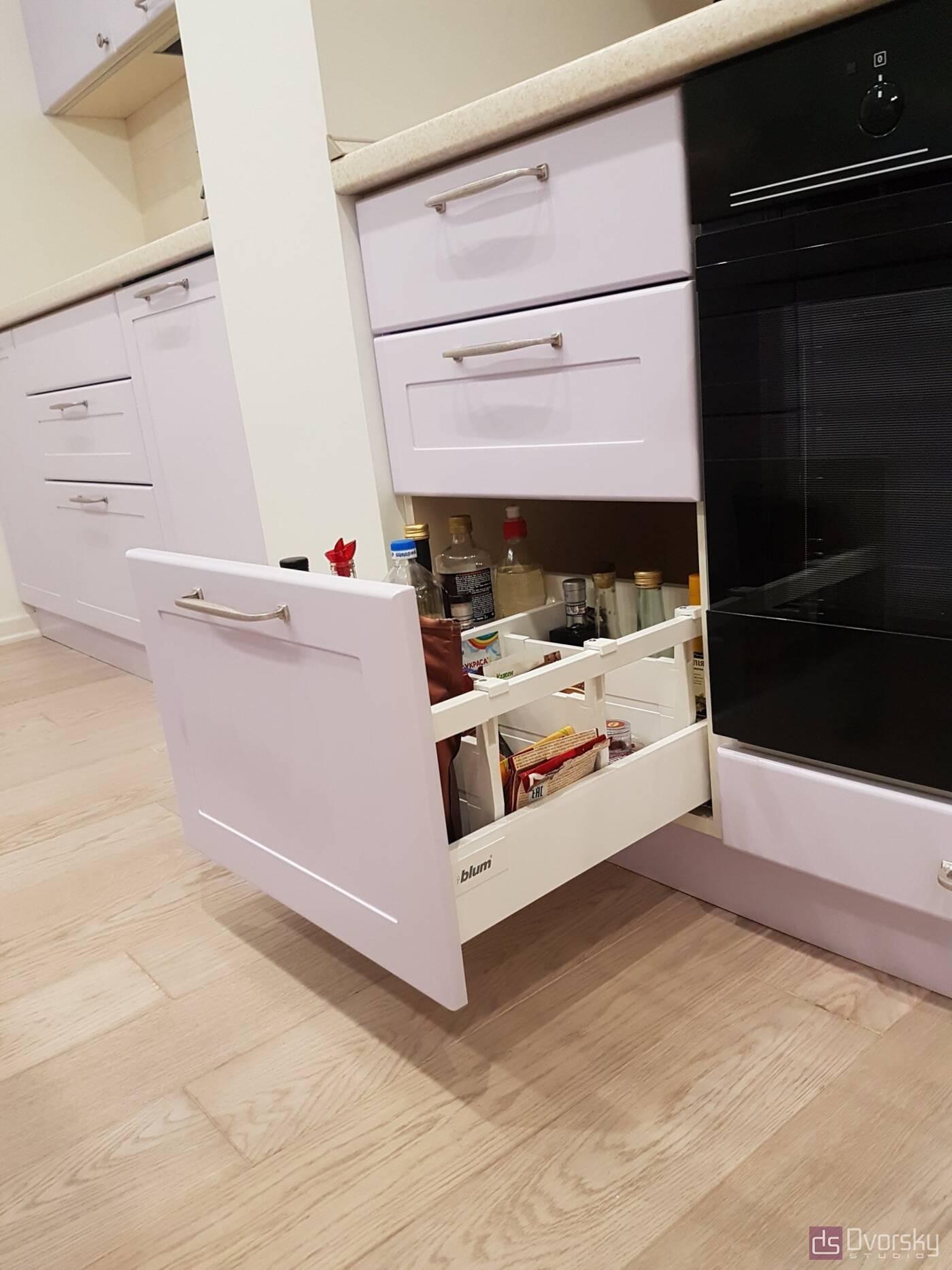 Острівні кухні Кухня з глибокими модулями - Фото № 8