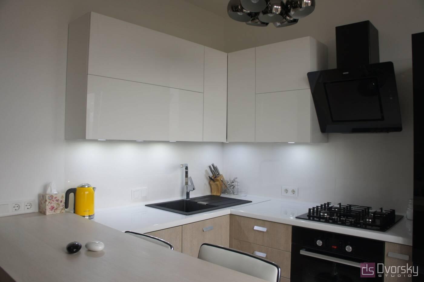 П - образные кухни Функциональная мини-кухня - Фото № 1