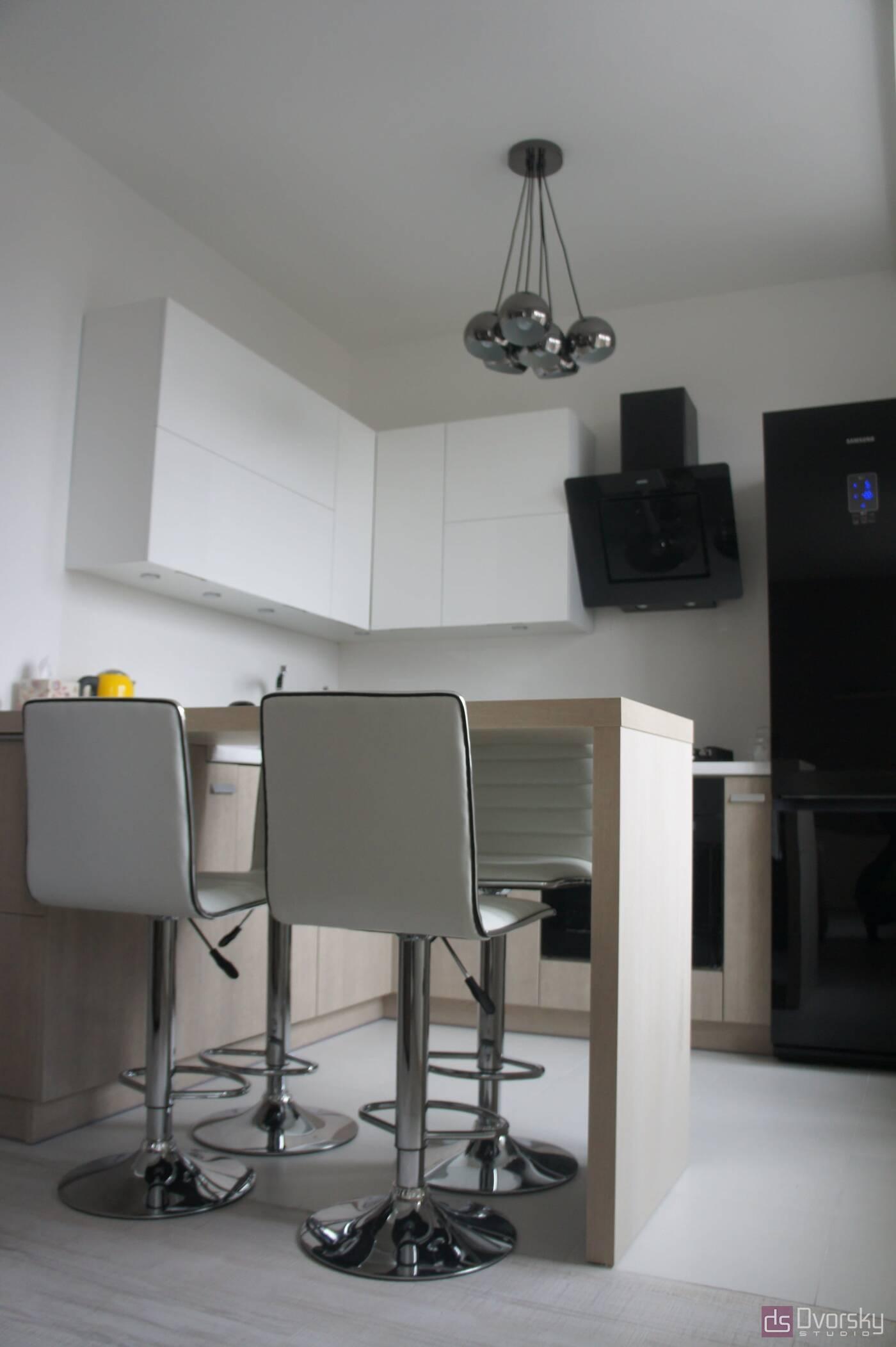 П - образные кухни Функциональная мини-кухня - Фото № 3