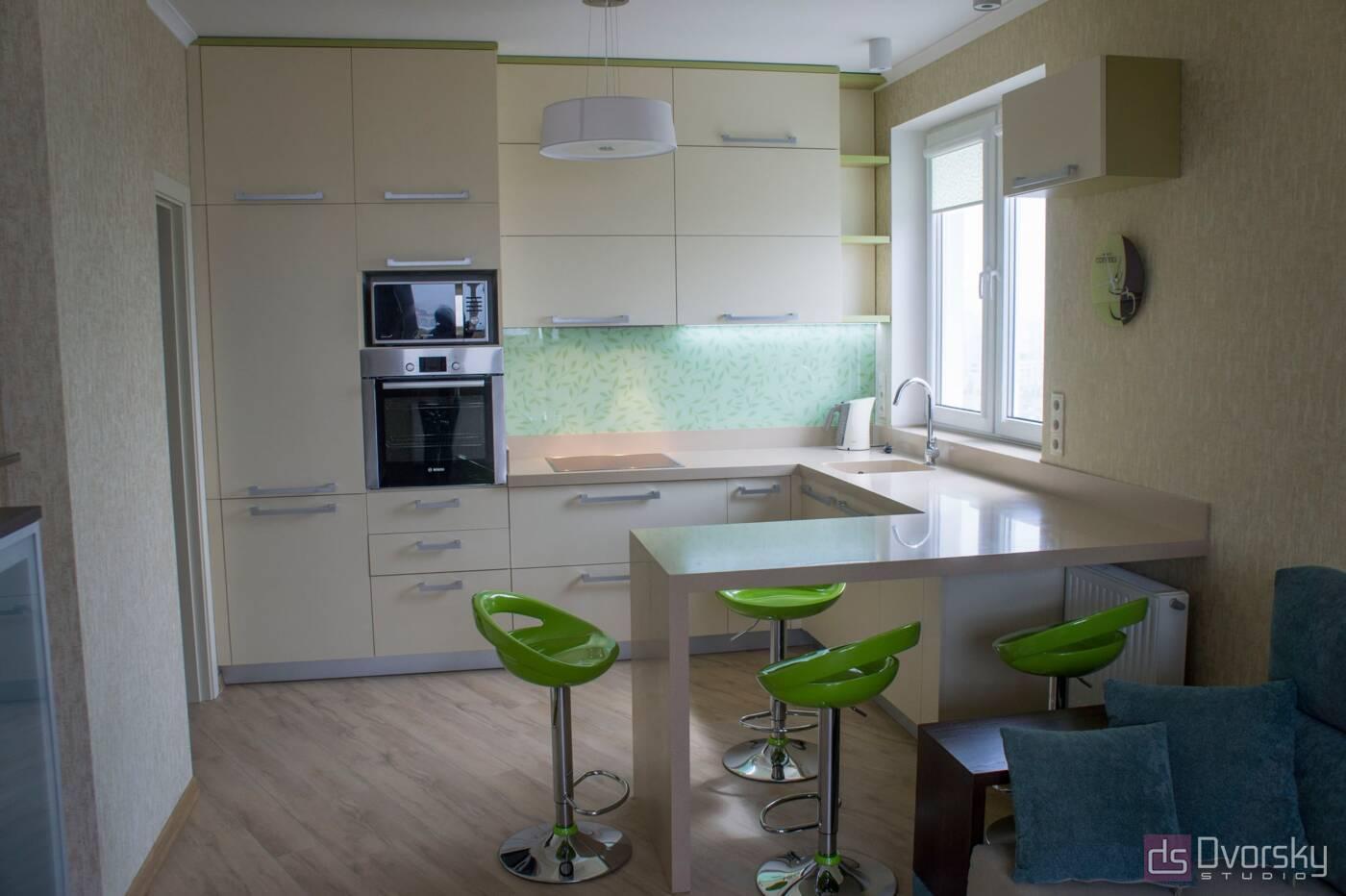 П - образные кухни Весенняя кухня - Фото № 1