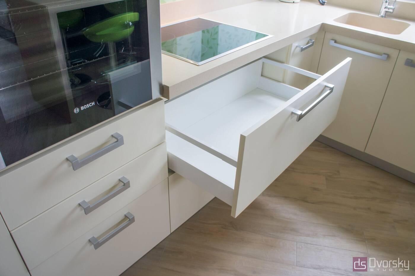 П - образные кухни Весенняя кухня - Фото № 3