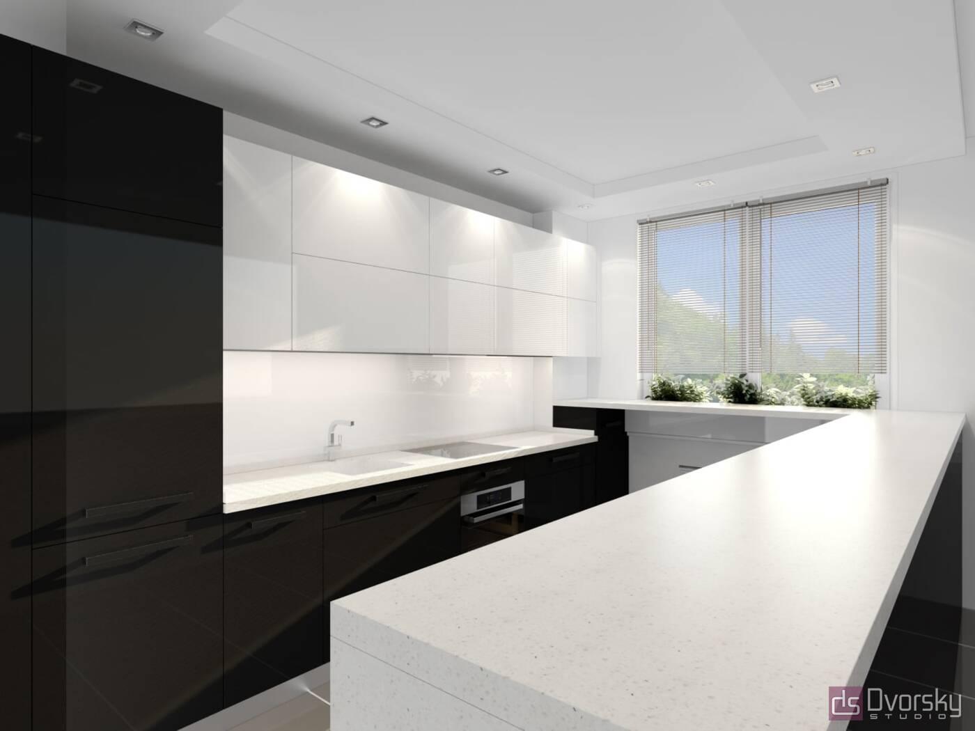 П - образные кухни Кухня-студия - Фото № 2