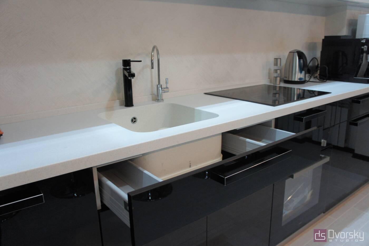 П - образные кухни Кухня-студия - Фото № 3