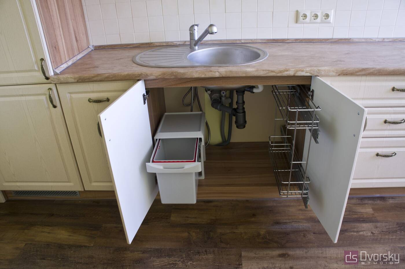 Прямые кухни Кухня в стиле Прованс - Фото № 6