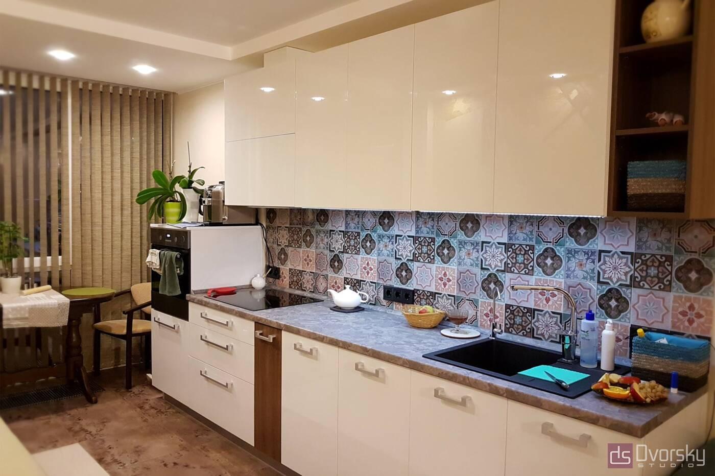 Прямі кухні Кухня в марокканському стилі - Фото № 1