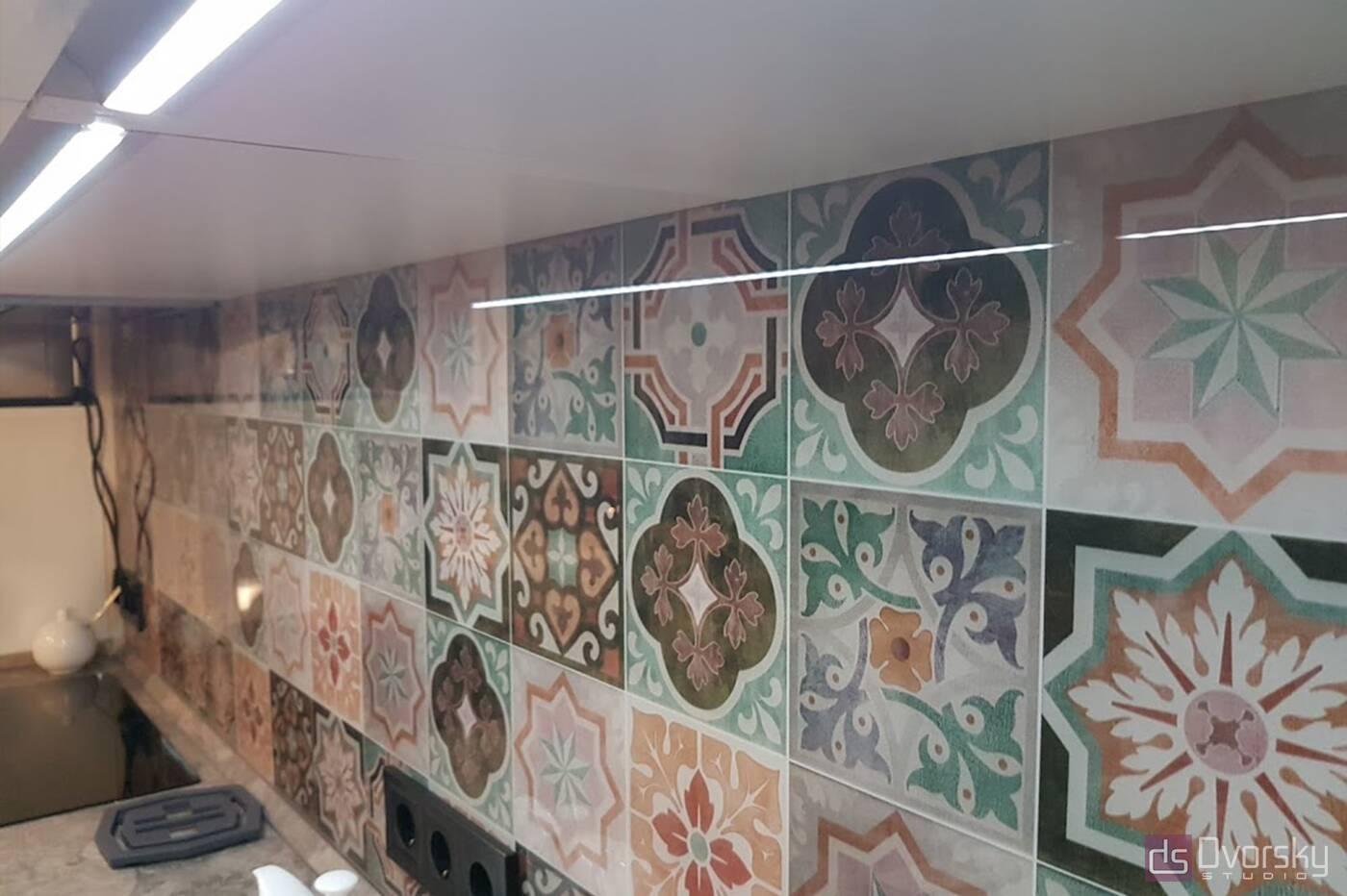 Прямі кухні Кухня в марокканському стилі - Фото № 4