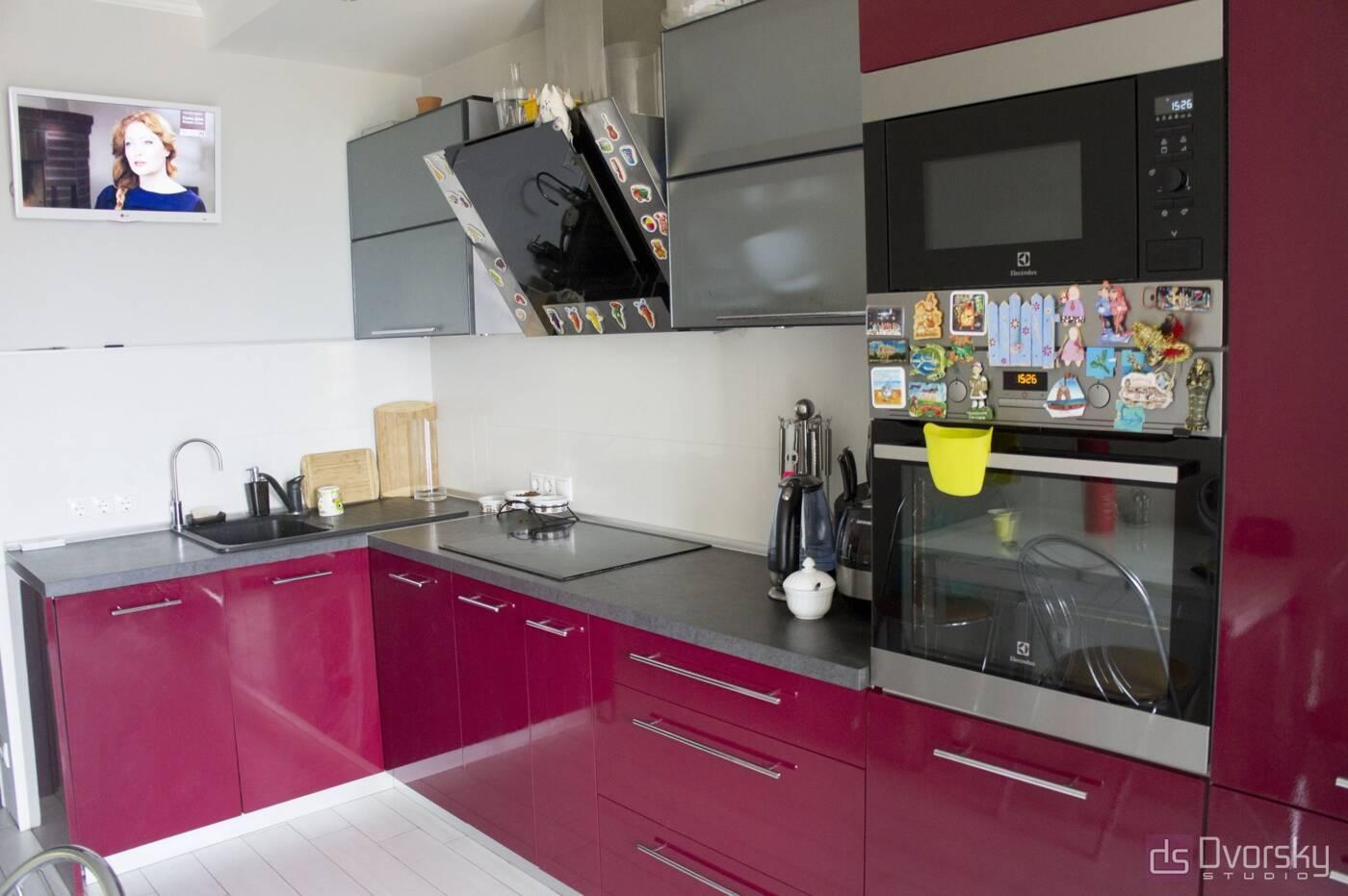 Кутові кухні Кухня в стилі Хай-Тек - Фото № 1