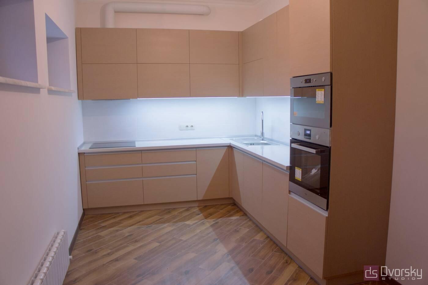 Угловые кухни Кухня рыжая - Фото № 5
