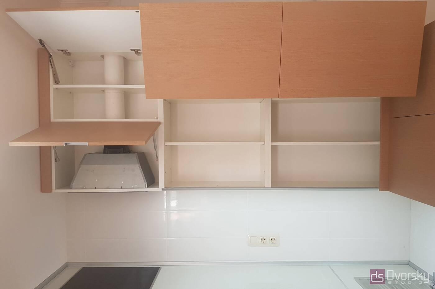 Угловые кухни Кухня рыжая - Фото № 4