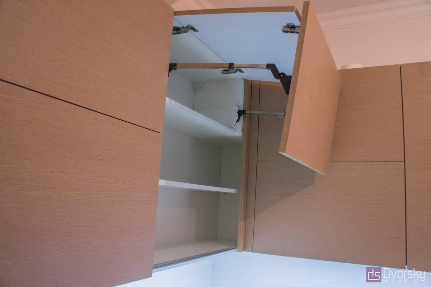 Угловые кухни Кухня рыжая - Фото № 2