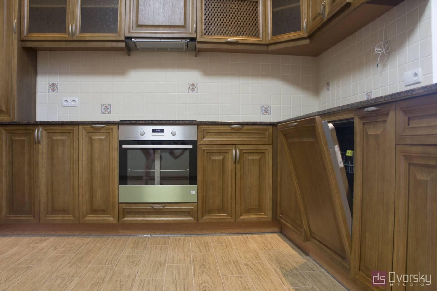 Кутові кухні Кухня з натурального дерева - Фото № 2