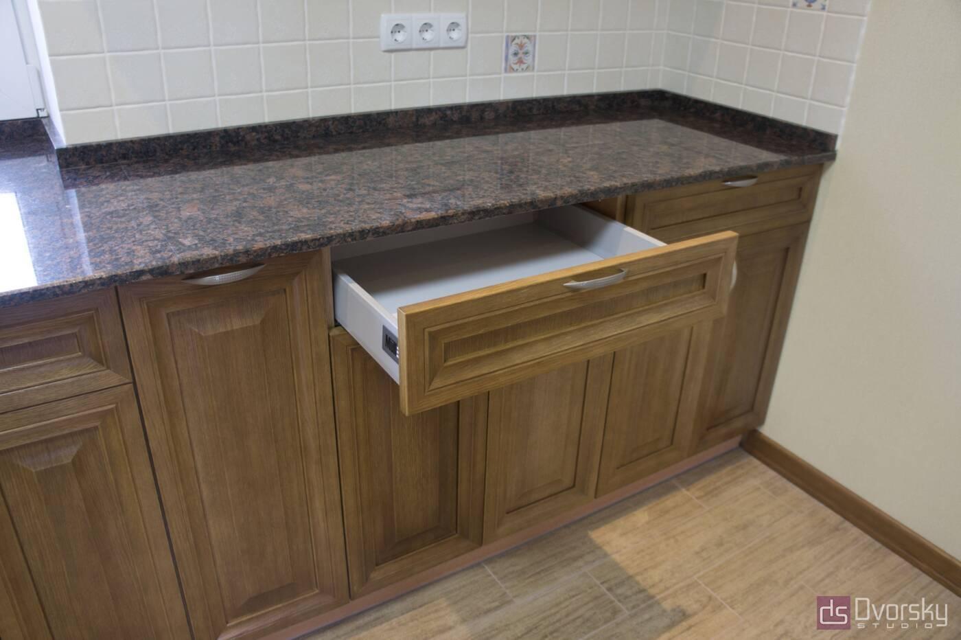 Кутові кухні Кухня з натурального дерева - Фото № 6