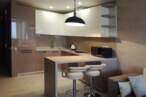 П - образные кухни Кухня в кофейных тонах - Фото № 1