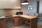 П - образні кухні Кухня в кавових тонах - Фото № 2
