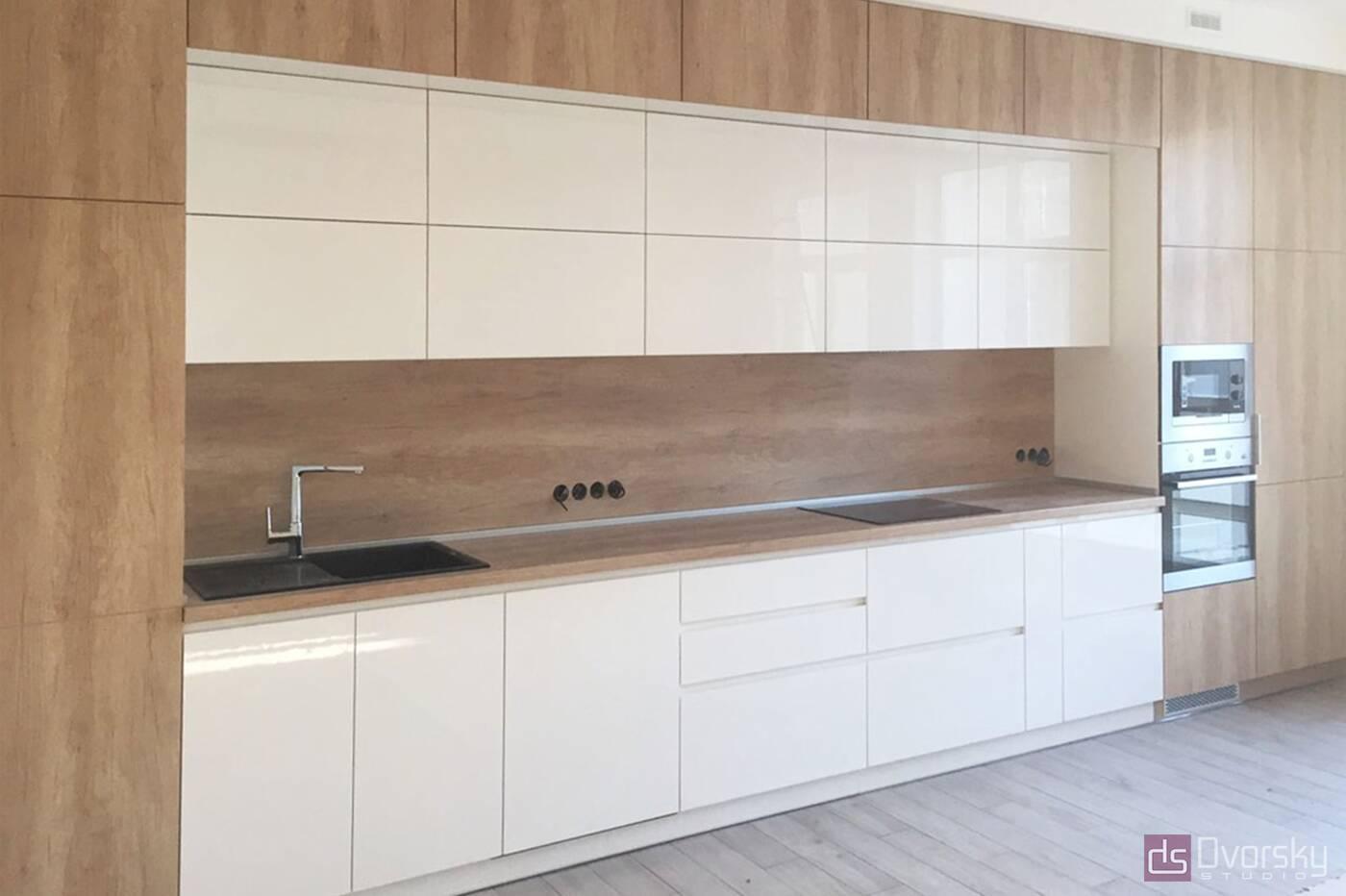 Прямые кухни Кухня Blum белая - Фото № 1