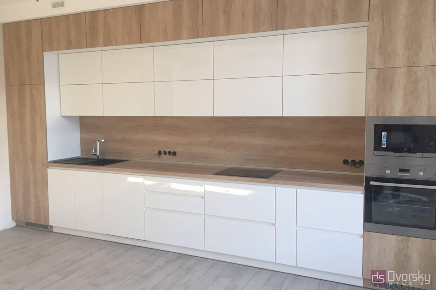 Прямые кухни Кухня Blum белая - Фото № 2