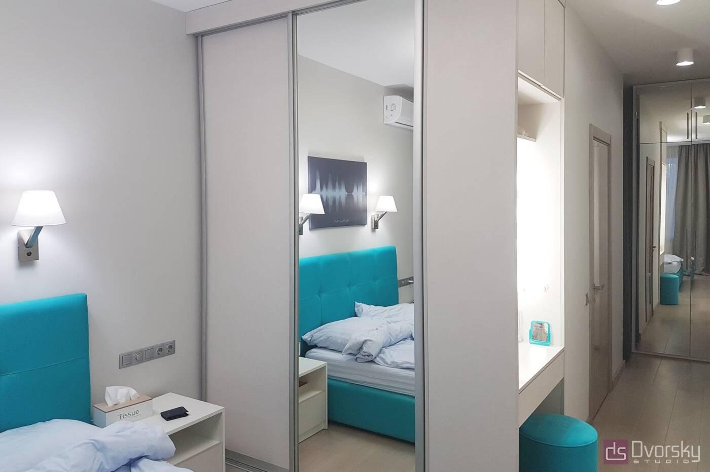 Спальни Спальня с голубым изголовьем - Фото № 2