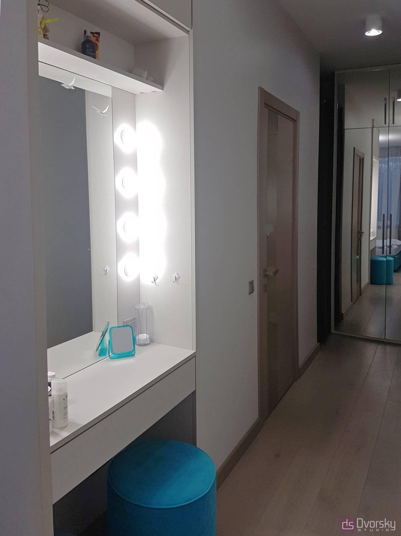 Спальни Спальня с голубым изголовьем - Фото № 4